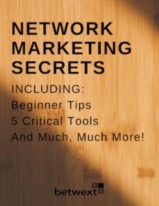 Network Marketing Secrets Cover