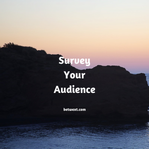 Survey Your Audience